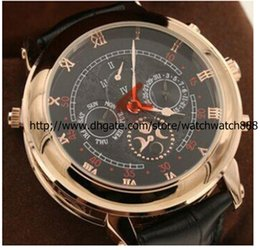 New arrived Automatic movement High quality sapphire glass Duo dial leather strap wristwatch Sky Moon Tourbillon PPi 5002P