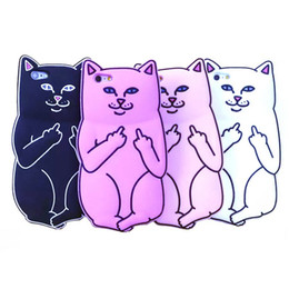 Wholesale Bad Cat D Carton Cat Soft Silicone Cell Phone Case Cover for iPhone S S S Plus NOTE5 S6 EDGE
