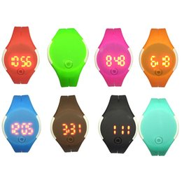 Wholesale Children Candy Bracelet Watch - The new student couples children sports bracelets LED waterproof electronic watch Candy color jelly watch gift