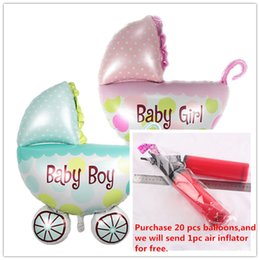 Wholesale Foil Balloons Party Decoration x36 cm Baby Stroller Balloon Infant Baby Car Girl Boy Stroller Aluminum Film Balloons Party Supplies