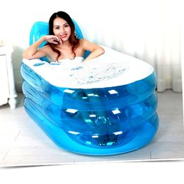 Wholesale New Foldable Durable Adult SPA Inflatable Bath Tub with Air Pump Inflatable bath Lie down pose cm Inside Size