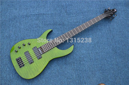 Free Shipping New guitarraOEM electric guitar bass guitar shop of green left hand five chord guitarra   guitar China