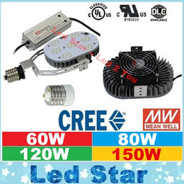 Wholesale Outdoor Led Street Lights W W W W CREE Led Retrofit Kit E27 E40 LED Lights K With Meanwell Drivers Hours Life