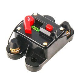 Wholesale 50A A A A A A A A optional Car Audio Inline Circuit Breaker Fuse for V Protection SKCB A hot sale