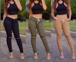 Women Pants Women Europe and American Style New Woven Hole Trousers with Elasticity