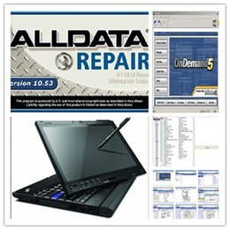 Wholesale 2016 alldata latest version alldata and mitchel software installed well in X200t touch screen laptop ready to work
