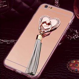 For iPhone X 8 7 6 Plus Transparent TPU Case with Leather pendant+luxury rhinestone metal ring tassels Cover for iPhone Xr-Xs-Xs Max