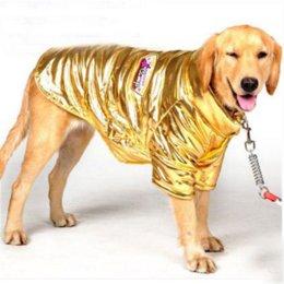 Большие костюмы для собак Онлайн-2016 Pet собак Хлопок Одежда Костюмы Большие размеры Pitbull Одежда для собак самодийских Chien Casaco Зимняя одежда для собак Комбинезоны 5017