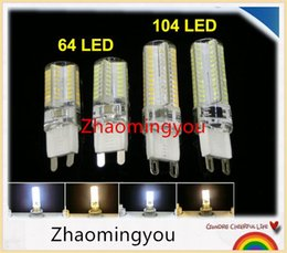 YON High power G9 E14 3014 3W 3.5W 220V Silicon Corn Light Crystal Lamp Bulb,104LED 64LED,10pcs Lot, Free Shipping!