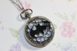 Wholesale silver Titanium steel Batman Pocket Watch Necklace mens jewelry steampunk antique jewelry jewelry making tools and equipment