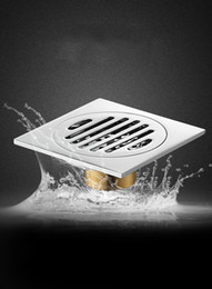 Wholesale 4inch Square Solid Brass Chrome Shower Floor Drain Kitchen Waste Bathroom Flower Drainer Balcony Laundry Drain Waste for Wasing Machine