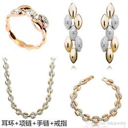 Europa y los Estados Unidos el comercio exterior de Austria cristal de trigo orejas Collar / Pendientes / Anillo / joyas pulsera establece,A77 B77C32E11