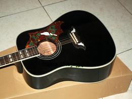 Wholesale Custom Shop Black Dove Acoustic Guitar Acoustic Electric Guitar China Factory
