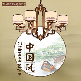 Wholesale The modern new Chinese style droplight sitting room dining room restoring ancient ways wrought iron bedroom study Oriental classical Chines