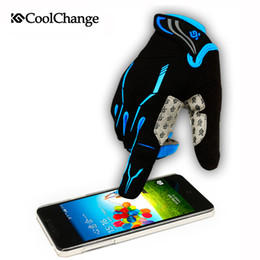 Wholesale CoolChange Touch Screen Gel Full Finger Cycling Glove For Man Woman MTB Road bicyle Glove