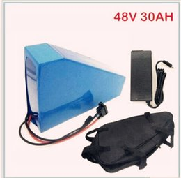 Free shipping 1000W 48v motor Electric bike Lithium Ion Battery 48V 30AH with 54.6V 2A charger and BMS factory price great quality free bag