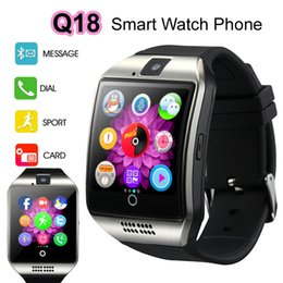 Wholesale 2 D Arc Screen Smart Watch Phone Bluetooth HD IPS Display Q18 Sports Wrist Watches BT Partner Pedometer Camera Snyc for Android iOS iPhone
