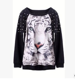 Wholesale-kids long sleeve fashion children kids tops for girls teen clothes autumn spring 2015 animals prints