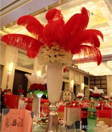 Wholesale 016 Hot sales Wedding Accessories cm color Ostrich Feathers Thin rod Plume Centerpiece for Wedding Party Table Decoration feather