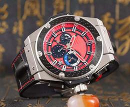 Wholesale 2016l New Arrival Hublo Quartz Watch Men Ceamic Case Red Big Dial Leather Band Big Bang Watch Montre Homme