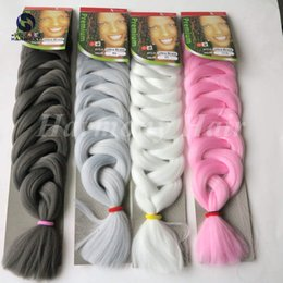 Colorful Super X-pression Jumbo Braiding Hair Ombre Synthetic hair Highlight Braids Hair color braid hair 165g 82inch