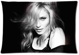 Madonna falls Brit awards Custom Zippered Rectangle Pillowcases Pillow Case Size 20x30inch (Two sides)U2-121