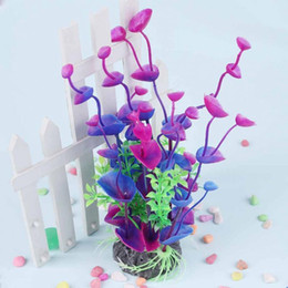 Wholesale Plastic Soft Coral Decor Emulational Water Plant Decor for Fish Tank Aquarium Ornament