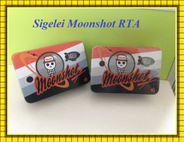 Wholesale Sigelei Moonshot RTA With Two Post Build Deck Moonshot Atomizer Best Match Sigelei W iStick w VS kanger cltank Geekvape RTA tank