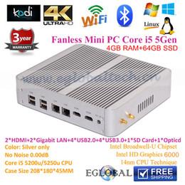 Wholesale Eglobal Intel NUC mini pc I5 u Thin Client Mini computer casing with HDMI Gigabit Lan GB RAM GB SSD TV BOX Windows