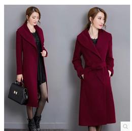Купить Онлайн Х большой-2016 зима высокого конца женщины большой длинный шерстяной куртки пальто верхней части шерсти пальто женские зимние пальто Пальто Пальто плюс размер женщина куртки для женщин пояса пыли