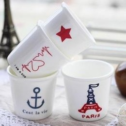 Wholesale Lovely Ceramic Mug Cup Anchor Iron Tower Mug Drop shipping