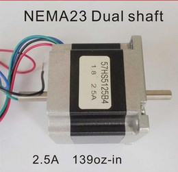 6.35mm Dual Shaft NEMA23 Stepper Motor 153oz-in Body Length 51mm CE ROHS CNC Stepping Motor