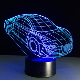 Wholesale 2016 D Car Optical Illusion Lamp Night Light DC V USB Charging AA Battery Dropshipping