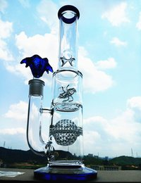 Wholesale 2015 New Heady Glass water Bong Glass Oil Rigs Wind Wheel Bong beaker Water Pipes Bongs Tall Color Recycler Glass Smoking Water Pipe