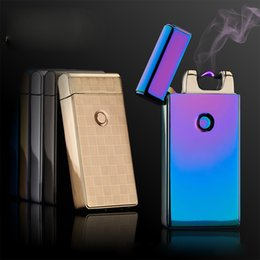 Wholesale USB Rechargeable Electronic Cigarette Lighter Excellent design Christmas gift USB Electricity arc Lighter