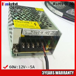 wholesale 60W 5A 12 24v Power supply for led strip light AC90-265V input voltage,led flexible strip power supply 60w