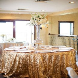 Wholesale Champagne Sequins Table Cloth Different Size and Color Custom Size Sequin Table Cloths Sparkly sequin fabric Table Sequin Linens