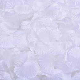 Wholesale MIC Hot sell White Silk Rose Petals Wedding Supplies Flowers Favors Decoration Flowers Petals Garlands