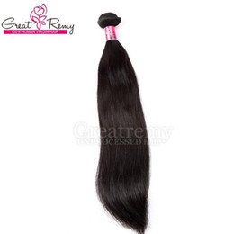 Color #1b Straight Hair 1PC Retail 100% Double Weft Peruvian Hair Weft Unprocessed Virgin Human Hair Extension Greatremy Drop Shipping