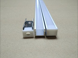 Free Shipping LED aluminum profile channel for 2835 5050 5630 4014 rigid strip Bar Light jewelry counter+ Cover waterproof