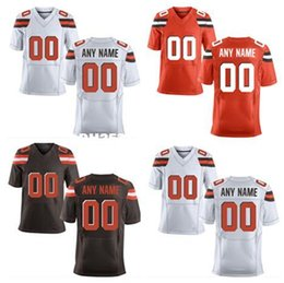 Wholesale HOT SALE Men s New Cleveland Brown Custom Elite Football Jerseys High Quality Stitched Any Name Number You Decide Three Colors Allowed
