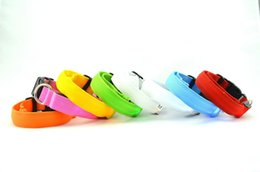 LED flashing dog collar 2.5cm Pets collars Dog Lights Flash Night Safety Nylon Collar Adjustable LED Collar Neck Leashes