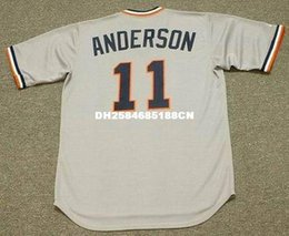 Wholesale SPARKY ANDERSON Detroit Tigers Majestic Cooperstown Away Baseball Jersey