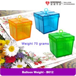 Wholesale B612 bag Mixed color plastic balloon weight for foil balloon balloon red balloon machine