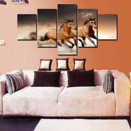 Running horse Photo Canvas Print Painting Wall Picture Large Canvas Art Living room Home Wall Decoration No Frame Free shipping