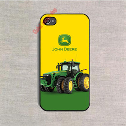 Wholesale Phone Case John Deere Tractor Logo cover Plastic Hard Back case for Samsung Galaxy s4 s5 mini s6 edge plus Note cases