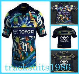Wholesale north queensland cowboys rugby Jersey The cowboy Sport shirt Leeds Rhinos All black Stormers Blues crusader Toulon Highlanders Scotland