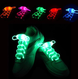 Newest LED Flash Light Up Shoelaces Glow Stick Strap Shoelaces Xmas Decor Shoestring Disco Party Skating bling lighting shoes laces Gift