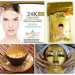 Wholesale 24K GOLD Active Face Mask Powder g Anti Aging Luxury Spa Treatment