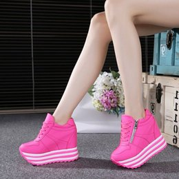 Europe in the spring of 2016 new pink shoes casual shoes female Sao rivet increase super high-heeled platform shoes